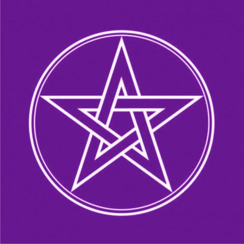EG001-1 - Toalha p/ Tarot Pentagrama Roxo