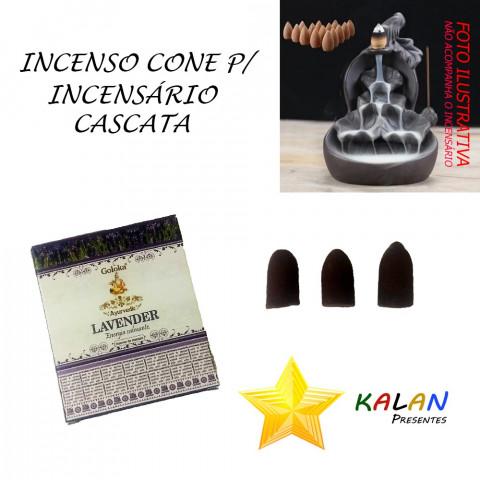 0774 - Incenso Goloka Cone Cascata Lavender