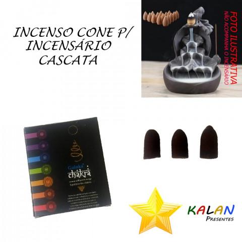 0770 - Incenso Goloka Cone Cascata Chakra