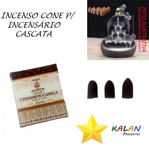 0780 - Incenso Goloka Cone Cascata Cinnamon (Canela)