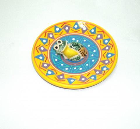 MC3028-01 - Incensario Ceramica Peruana c/ Sapo