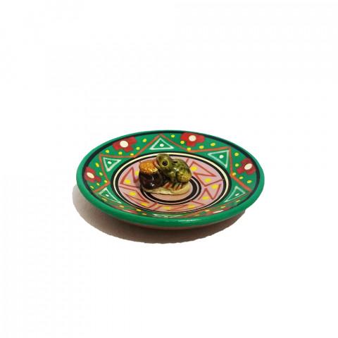 MC3028-01 - Incensário Cerâmica Peruana c/  Sapo