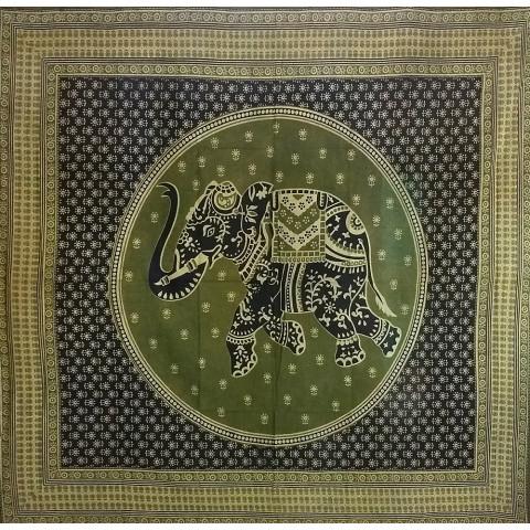 JMD806-10 - Toalha Indiana Mandala Elefante Verde