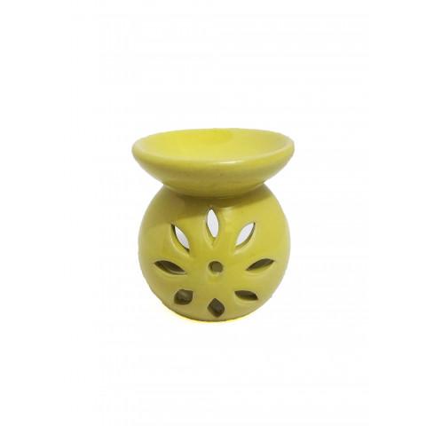 BC7813027AMR - Rechô Cerâmica Floral Bojudo Amarelo