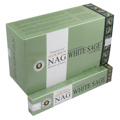 0786 - Incenso Massala Golden Nag White Sage