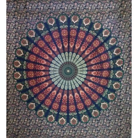 JMD806-15 - Toalha Indiana Mandala C/ Flores Verde