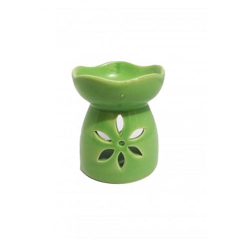 BC78130026VDE - Rechô Cerâmica Floral Verde