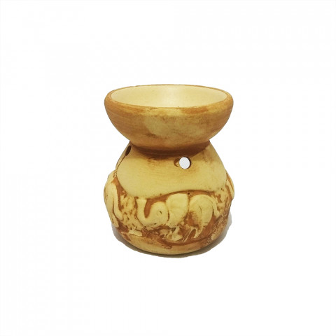 D79-2 - Difusor de Cerâmica LXXIX - Elefante Mostarda Rústico