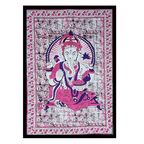 JMD806-006 - Manta Indiana Solteiro Ganesh Rosa