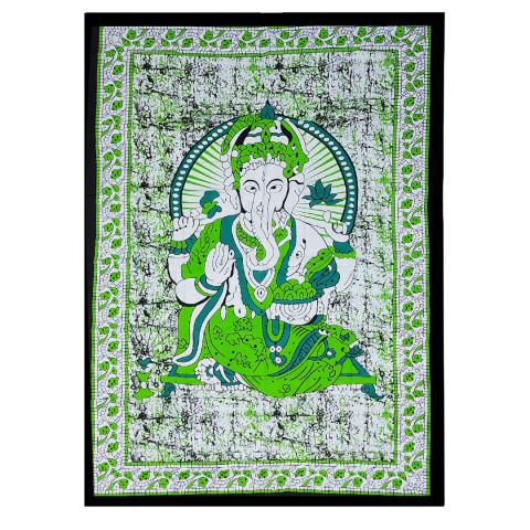 JMD806-007 - Manta Indiana Solteiro Ganesh Verde