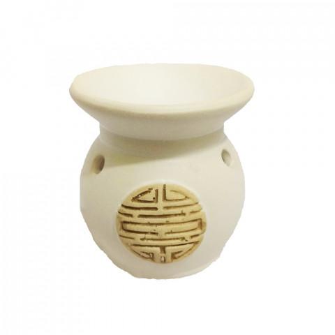 BC7813035BCO - Rechô Cerâmica Moeda Branco