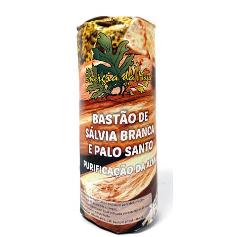 EM001 - Bastão De Sálvia Branca E Palo Santo 25gr