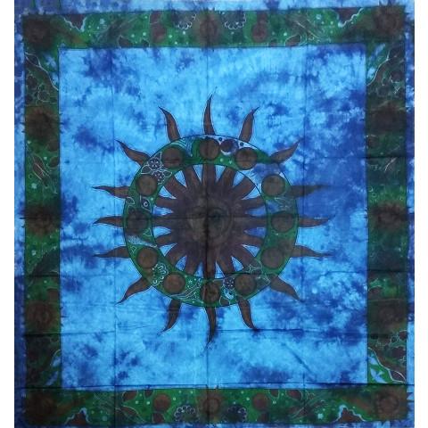 JMD806-32 - Toalha Indiana Mandala Sol Azul Escuro