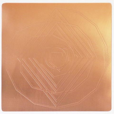 EG9918 - Gráfico Radiônico de Cobre (Espiral Cósmico)