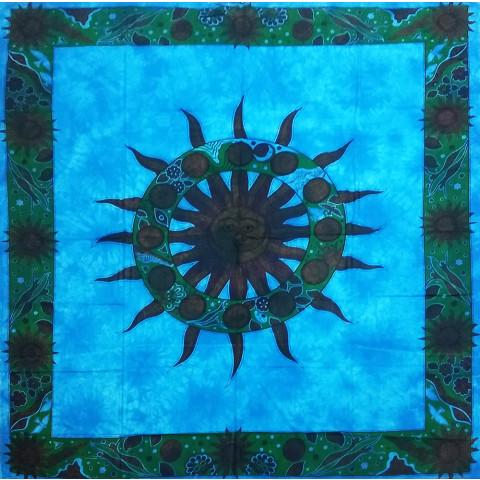 JMD806-33 - Toalha Indiana Mandala Sol Azul Claro