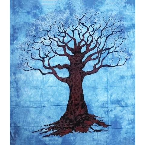 JMD806-35 - Toalha Indiana Árvore Galhos Azul Escuro