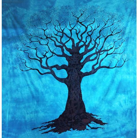 JMD806-36 - Toalha Indiana Árvore Galhos Azul Claro