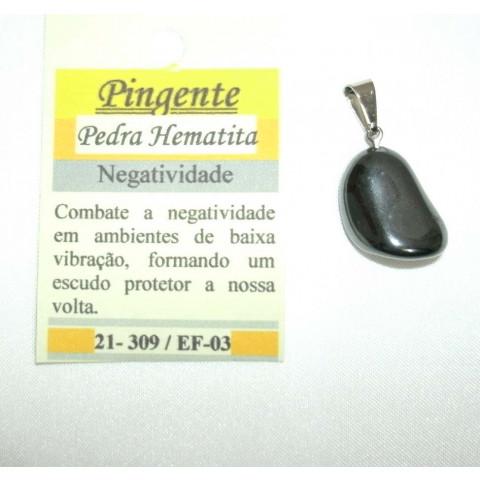 4402-9 - Pingente Pedra Rolada (Hematita)