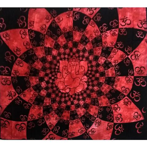 JMD806-45 - Manta Indiana Mandala Ganesh Vermelha