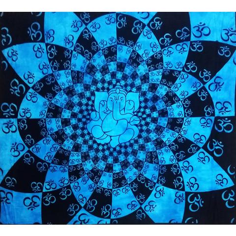 JMD806-48 - Manta Indiana Mandala Ganesh Azul Claro