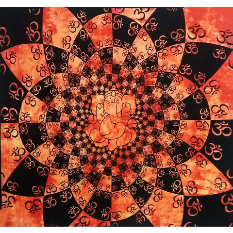 JMD806-49 - Manta Indiana Mandala Ganesh Laranja