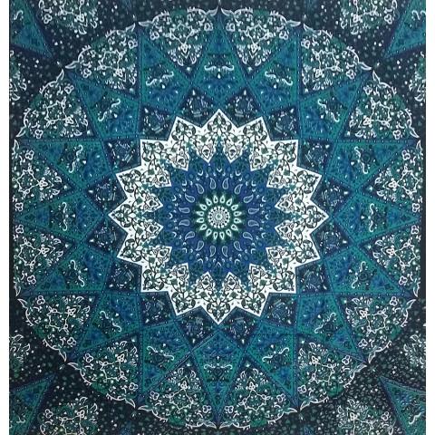 JMD806-67 - Manta Indiana Mandala azul