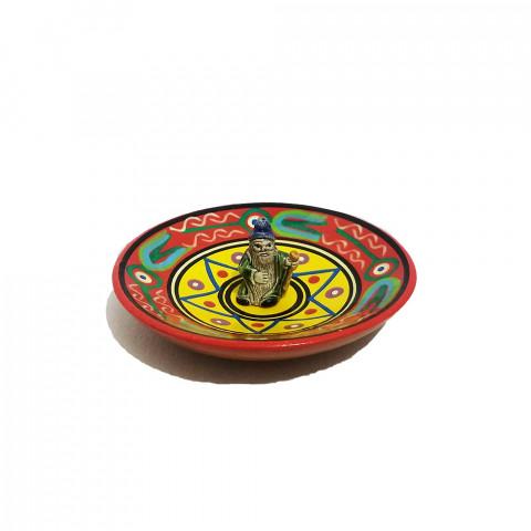MC3028-08 - Incensário Cerâmica Peruana c/  Mago