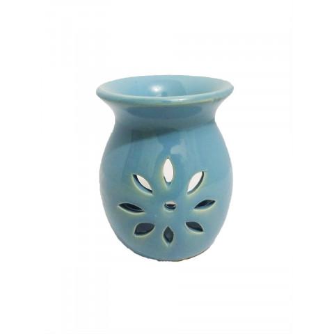 BC7813028AZL - Rechô Cerâmica Floral Oval Azul