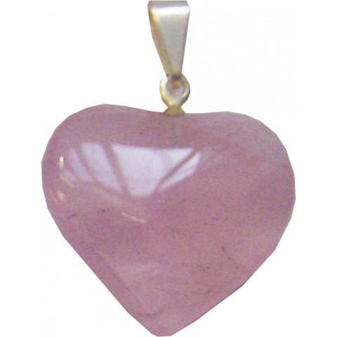 CA1057-02 - Pingente Coração Quartzo Rosa (10 a 20mm)