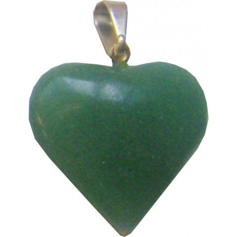 CA1057-03 - Pingente Coração Quartzo Verde (10 a 20mm)