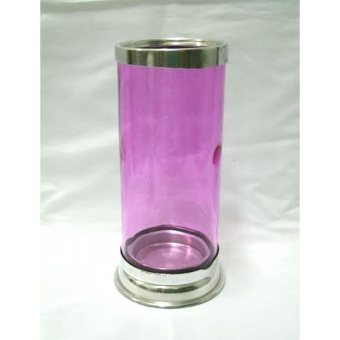 CI3035-05 - Castiçal de Vidro Para Vela 7 Dias (Rosa)