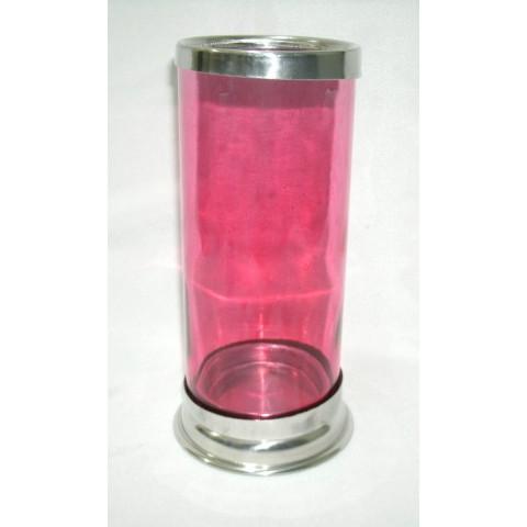 CI3035-06 - Castiçal de Vidro Para Vela 7 Dias (Vermelho)