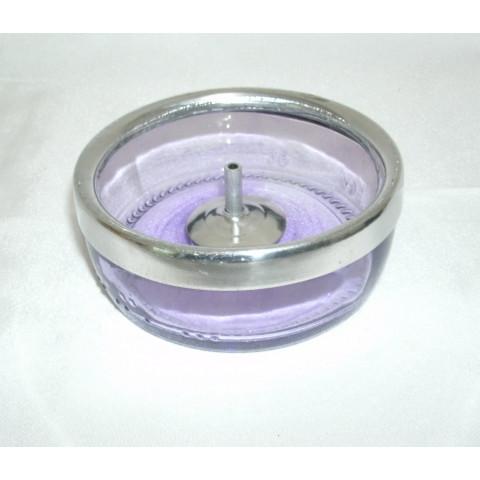 CI3035-18 - Incensário de Vidro Redondo (Lilás)