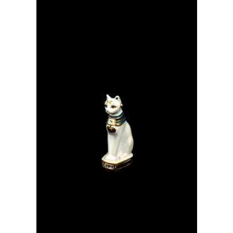 CPA010274607 - Bastet Bco/Dourado (7cm)