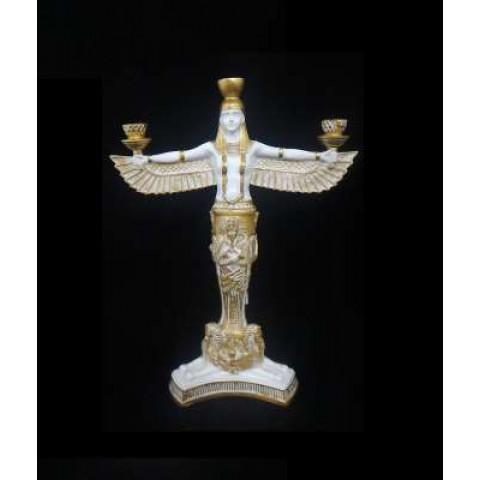 CPA033244607 - Porta Vela Isis Branco/Dourado (P)