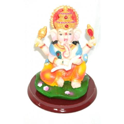 CPA040769370 - Ganesh Escrevendo Colorido (P)