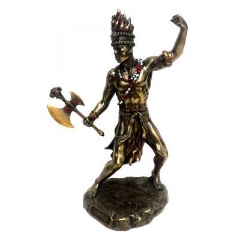 CPA041589234 - Escultura Xango Bronzeado
