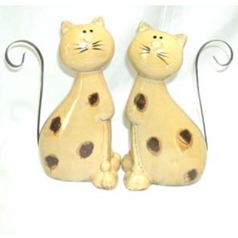 CPA110040654 - Gatos Apaixonados Bege c/ 2
