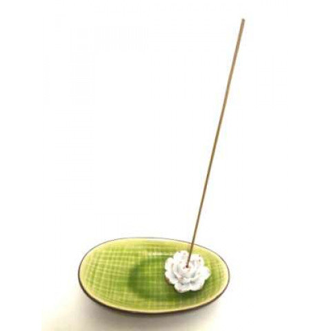CPA130019360 - Incensário Porcelana Flor Lótus Oval