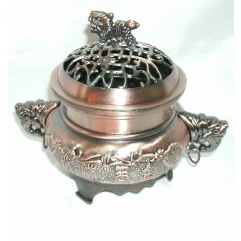 CPA229029234 - Incensário Redondo Bronzeado (P)