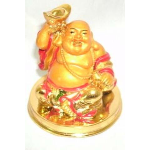 CPB001109101 - Buda Sentado (M) Dourado