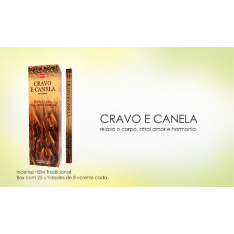 1334 - Incenso Hem Cravo e Canela