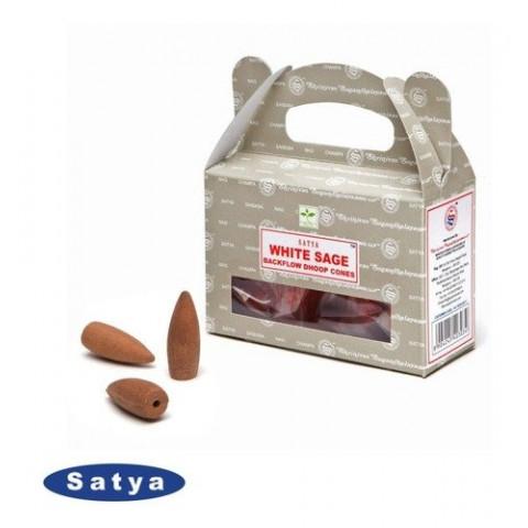 61626 - Incenso Satya Cone Cascata - White Sage (Sálvia Branca)