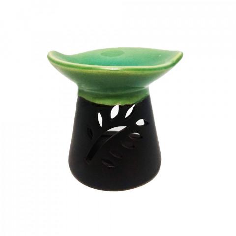 D83- Difusor de Cerâmica Folha -verde