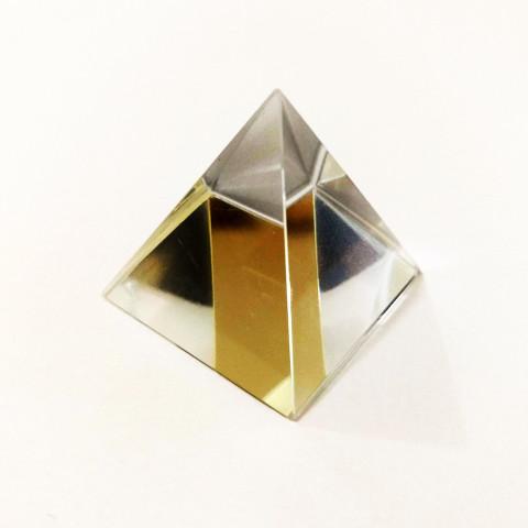 DEC117-116 - Pirâmide de Vidro Cristalizado Transparente