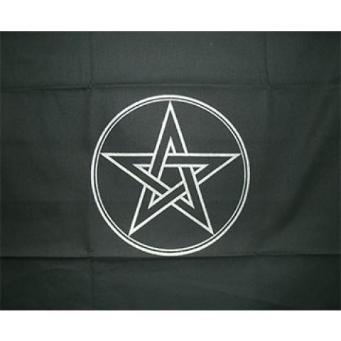 EG001-2 - Toalha p/ Tarot Pentagrama Preta
