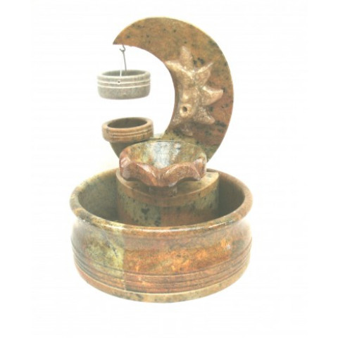 FA001-01 - Fonte de Pedra Sabão Meia Lua c/ Aromatizador