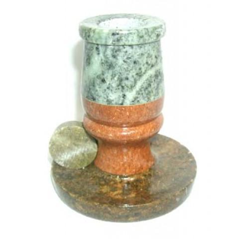 FA005-02 - Castiçal Vela Palito Pedra Sabão