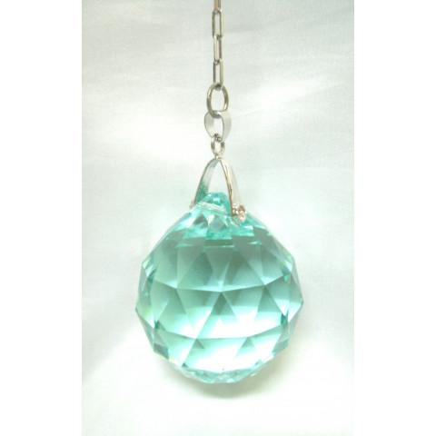 IDS08 - Esfera Cristal Swarovski Blue Zircon (30mm)