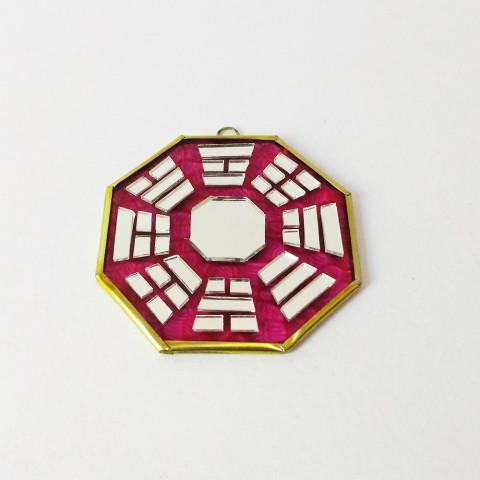 RO5500-2 - Bagua de Espelho Vermelho (9 cm)
